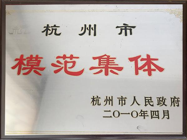 2010年杭州市模范集体-华龙摩擦