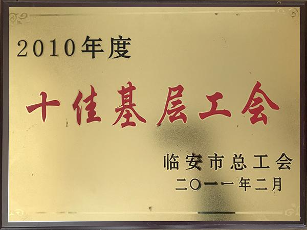 2010年度十佳基层工会-华龙摩擦