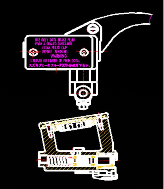 盘式制动器之液压主缸部分